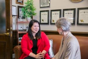 Sen. Parlette with Senate intern Jaime Rosenberg